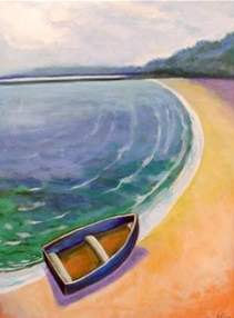 Blue Dingy , 2006 Acrylic on canvas 48 x 36 inches