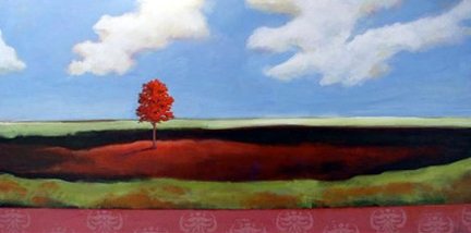 In the Clearing,  2006 Acrylic on canvas 38 x 24 inches