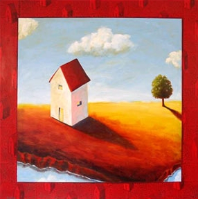 Never Alone,  2006 Acrylic on panel 36 x 36 inches