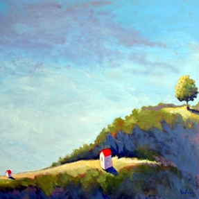 On the Bluff,  2006 Acrylic on canvas 48 x 48 inches