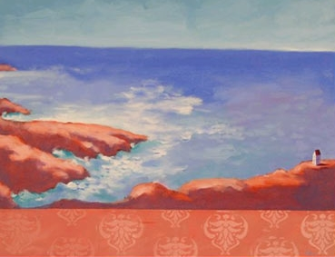 On the Shore,  2006 Acrylic on canvas 22 x 28 inches