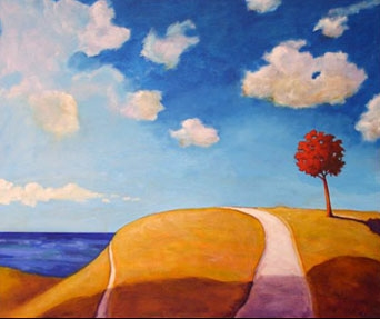 The High Road,  2006 Acrylic on canvas 36 x 36 inches