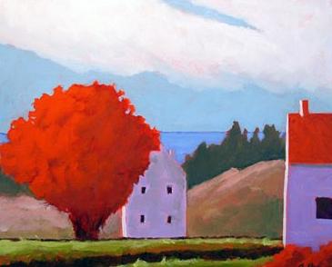 Cadmium Tree,  2007 Acrylic on canvas 16 x 20 inches