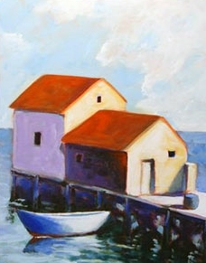 End of the Pier,  2007 Acrylic on canvas 20 x 16 inches