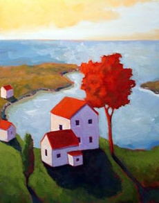 Inlet,  2007 Acrylic on canvas 20 x 16 inches
