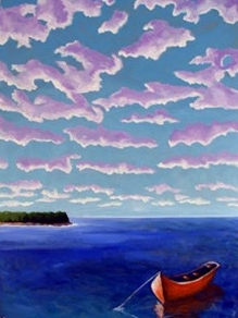 Red Dinghy,  2006 Acrylic on canvas 48 x 36 inches
