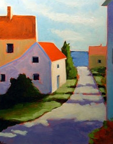 Road to the Beach,  2007 Acrylic on canvas 16 x 20 inches