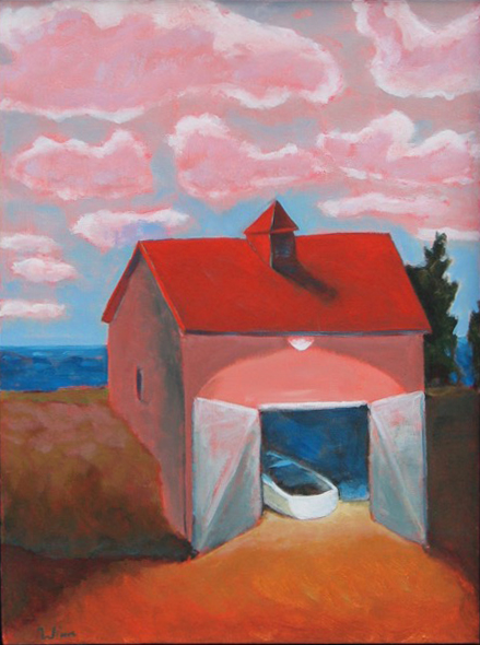 Boat House,  2016 Acrylic on canvas 24 x 18 inches