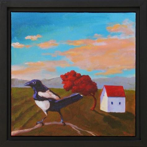 Windblown Farm,  2016 Acrylic on canvas 12 x 12 inches