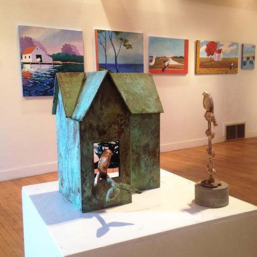 Bird House,  2016 Bronze 16 x 20 x 12 inches
