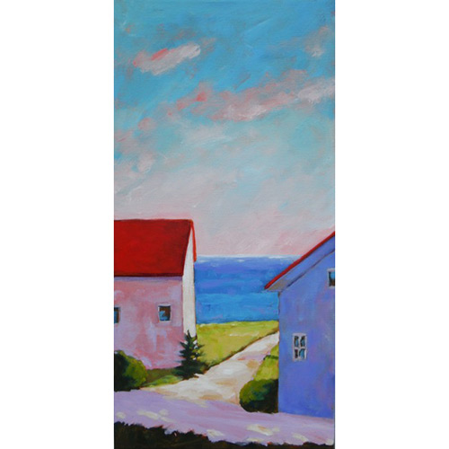 Path to the Beach, 2016 Acrylic on canvas 10 x 20 inches