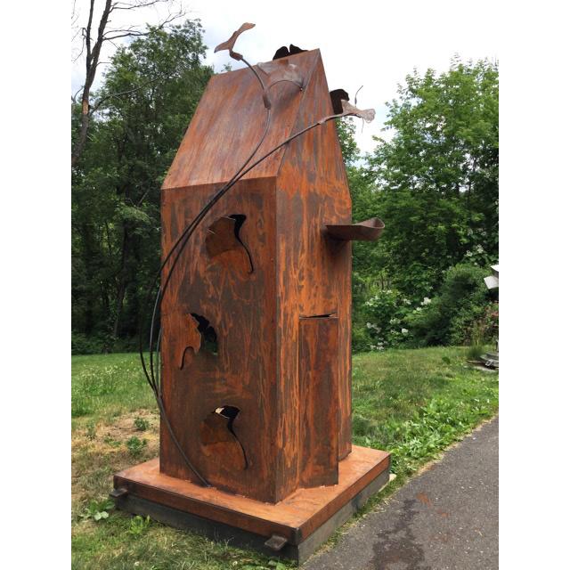 Maine Stories, 2016 Oxidized steel 4 x 4 x 9 feet