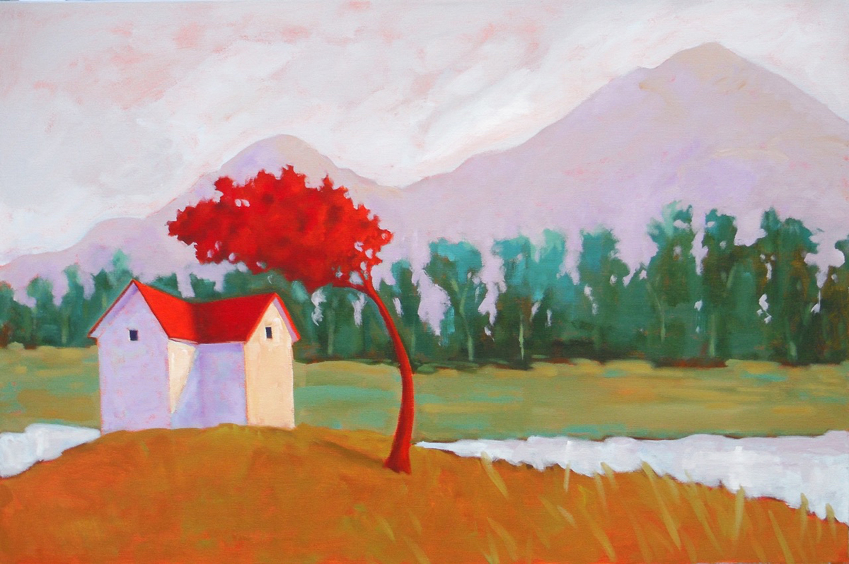 Mountain Stream,  2017 Acrylic on canvas 26 x 32 inches
