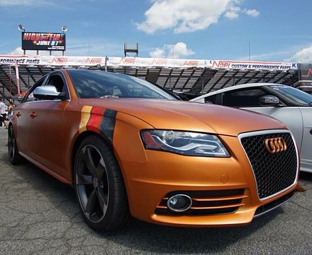 So here is the satin copper canyon Audi S4 shown at #nopi2015 . Really like how the color looks in the sun. Had a blast at what turns out to be the last Nopi event, #thelastshow #foxywraps #3mwraps #3mcertified #atlanta #atlantawraps #vehiclewraps #vinylwrap #layednotsprayed #arlon #oracal #hexis #avery #satinwraps #itaintpaint #carwrap #wrappedworld #wrapitall #ffellers #ptc #atl #nopinationals #satincoppercanyon