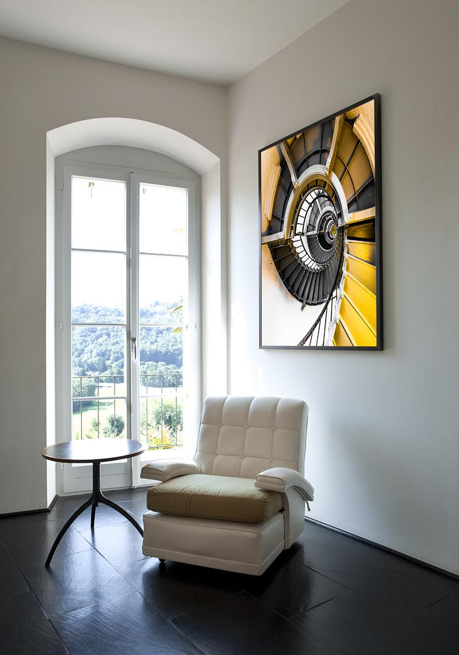 Metal Swirl in a contemporary home setting