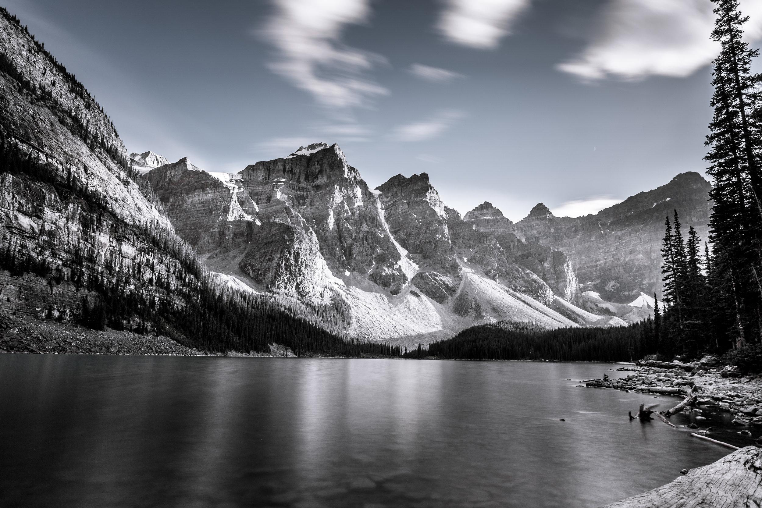 Moraine Lake Desaturated