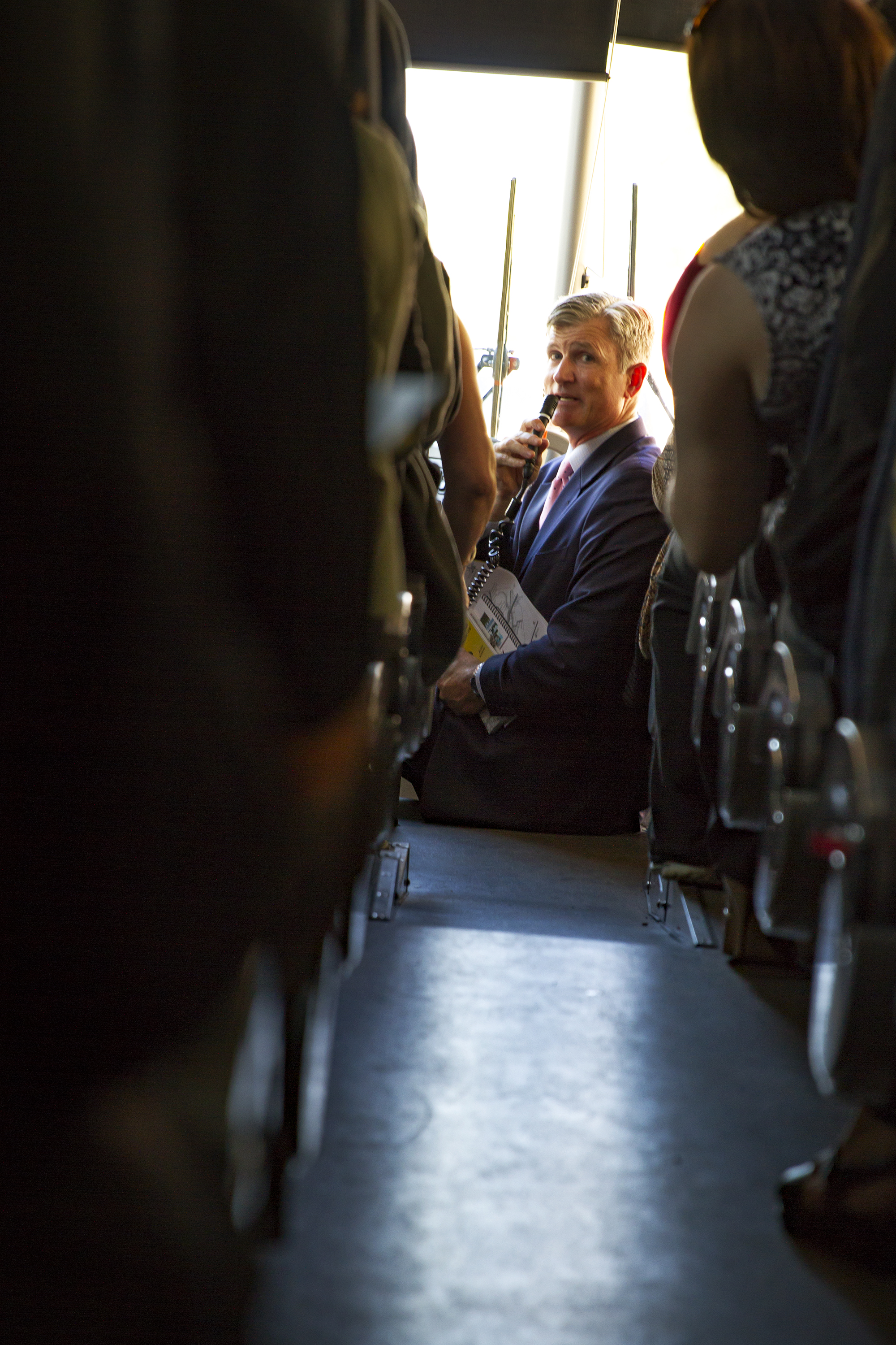 WASHINGTON, DC, 14 September 2016 -- Rick Starrs, CEO of the National Association of Veterans' Research and Education Foundations, speaks to NAVREF members on their way to advocate for veteran's rights in Congress.