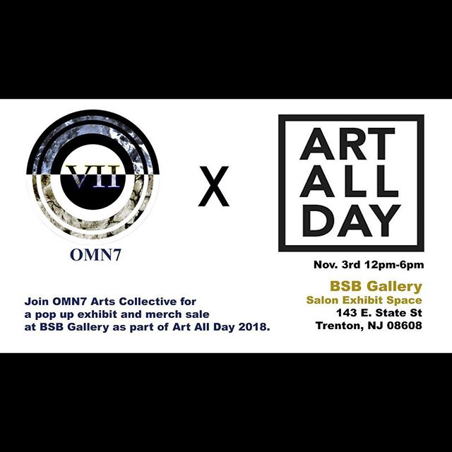 Swipe left and come check us out tomorrow OMN7 x ART ALL DAY #artalldaytrenton  #omn7 @adm238 @billydee238  @me_kon_el  @brassrabbitphotography