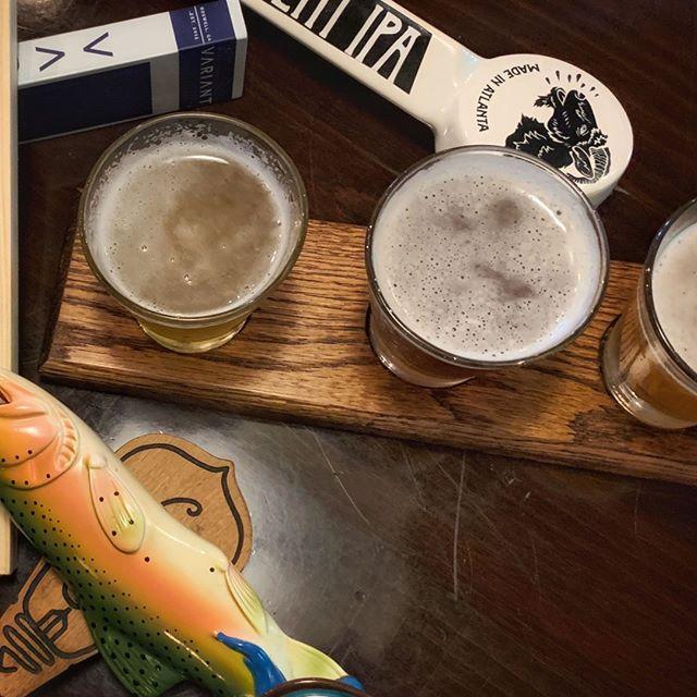 Beer makes us hoppy. 🍻 #beerflightnight #beerbeerbeer #welovebeer #houcksgrille #roswellga