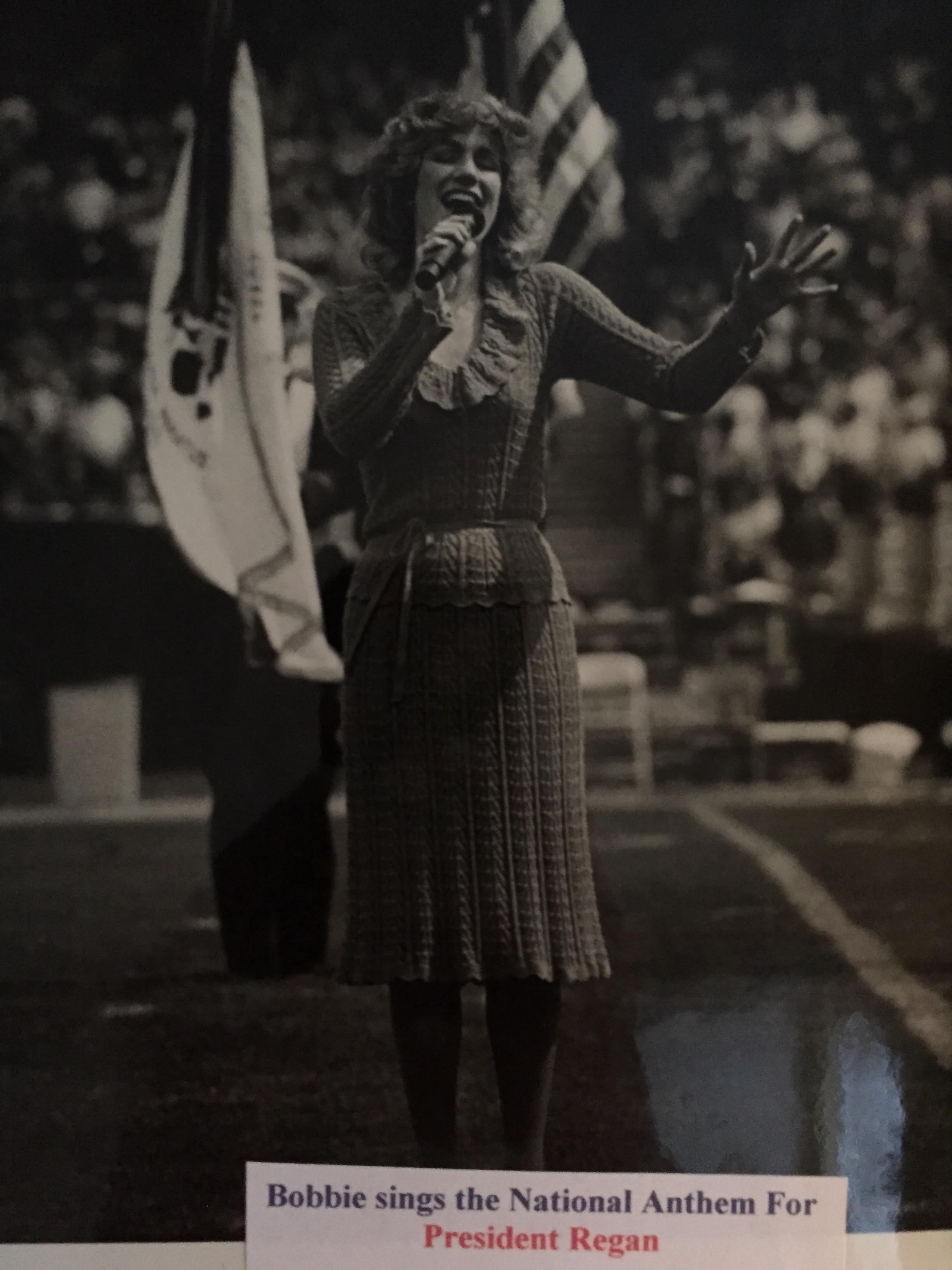 Singing for President Reagan