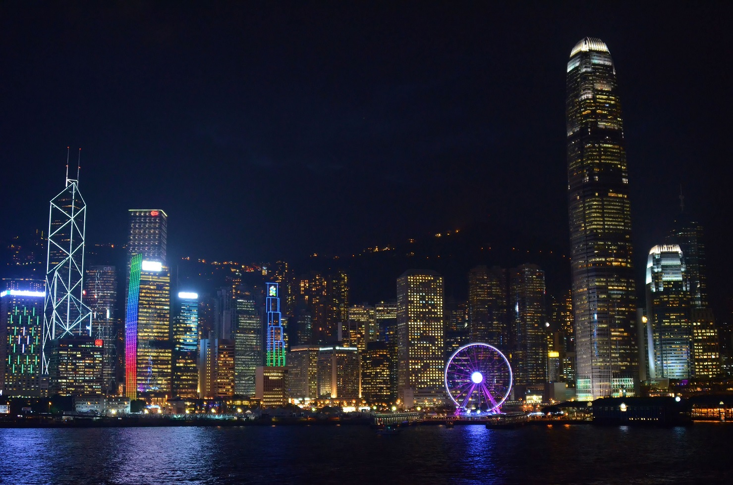 The skyline of Hong Kong Island is both colourful and innovative. It is spectacular!