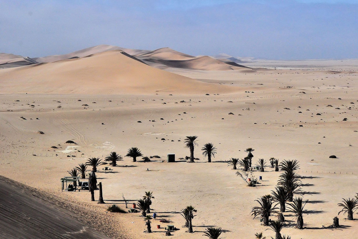 The view from  Dune 7  is spectacular. At a height of 385 m (1,260 ft), it is the highest sand dune in the world.