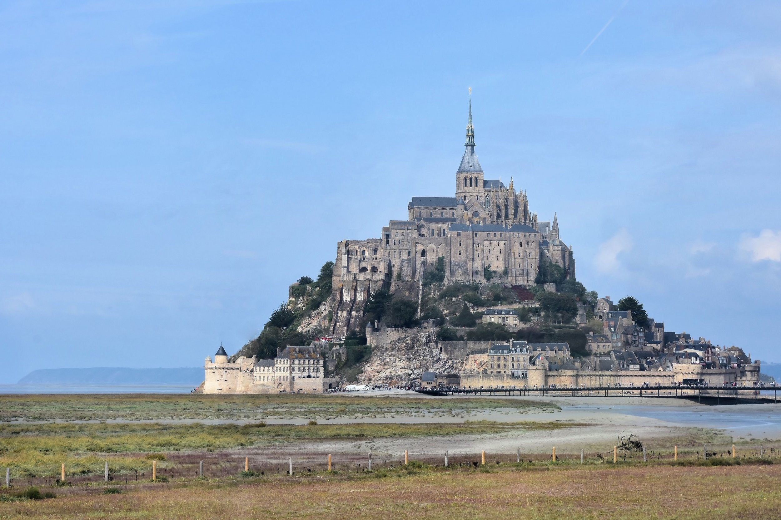Mont St Michel in France continues to fascinate and mystify visitors from around the world. Third in popularity in France only behind the Eiffel Tower and the palace at Versailles, Mt St Michel attracts 3.5 million visitors per year. So much for monastic solitude...