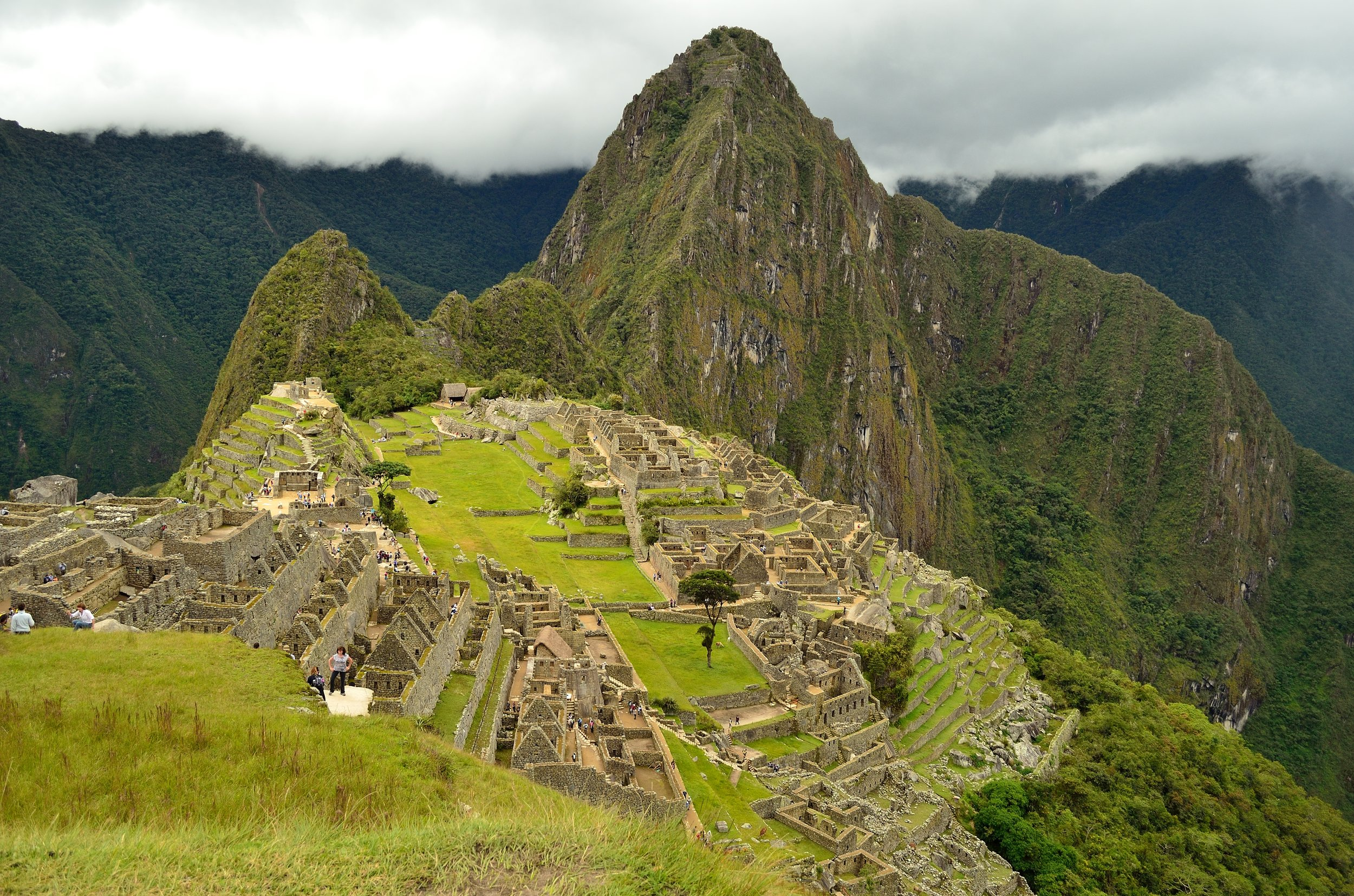 The most well-known perspective of Machu Picchu.