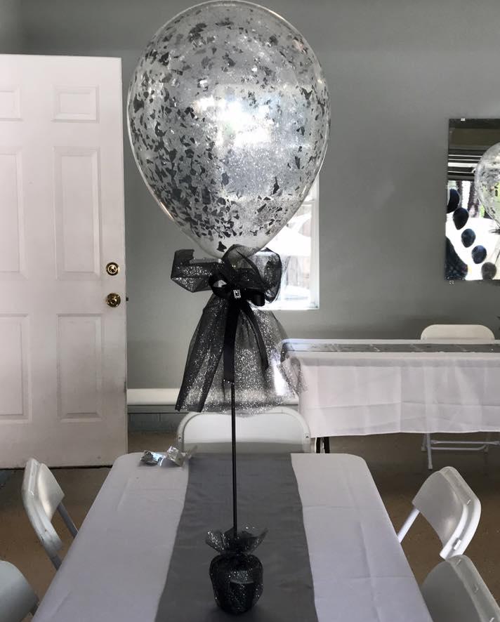 Confetti Stuffed Centerpiece