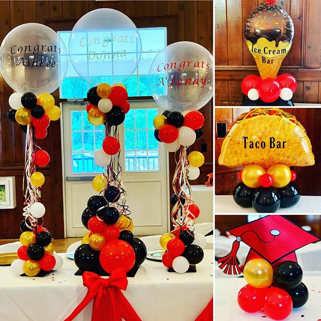 Graduation celebration for 3 recent grads! Mother, daughter & niece! Well done guys 👏🏽👏🏽👏🏽 #balloons #balloondecor #balloonart #ballooncenterpiece #balloonsculpture #organicballoondecor #graduation #grad #gradparty #ncevents #wakeforest #eventplanner #party #celebrate #fun #jujabel