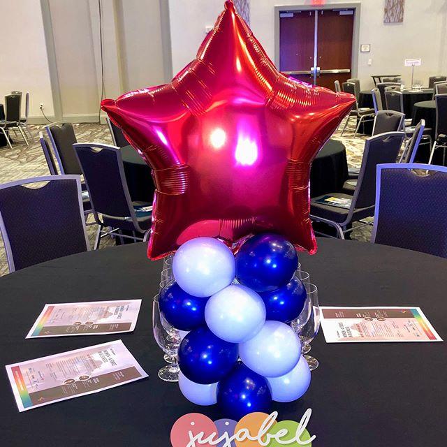 NC Chamber annual event.  #balloons #balloondecor #tabletopcolumns #miniballooncolumns #ballooncenterpieces #ncevents #eventdecor #events #venue #eventprofs #jujabel