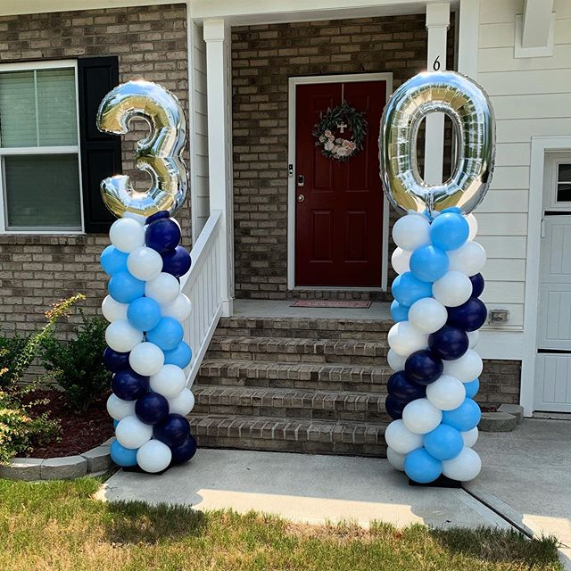 Lovely client celebrated her husbands 30th Birthday!  #balloons #balloondecor #ballooncolumns #ncevents #ncballoons #wakecounty #birthday #party #jujabel #eventplanner