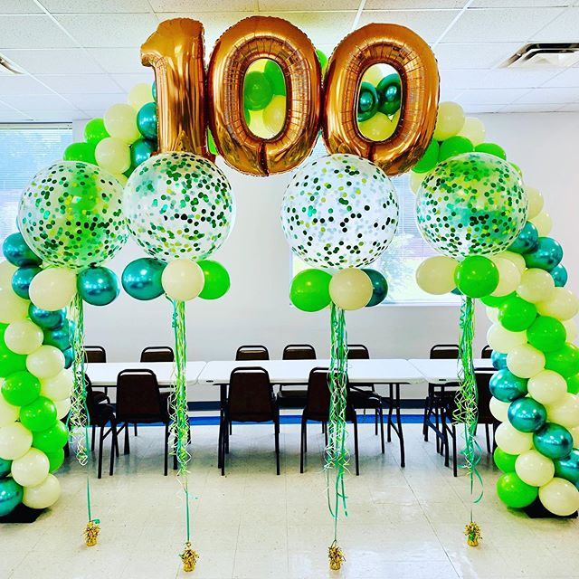 Honored to have been chosen to do this arch for a special lady's 100th Birthday!  Happy Birthday and lots of love from Jujabel ❤️ #balloons #balloondecor #balloonarch #100thbirthday #foilballoons #chromeballoons #birthday #birthdayparty #events #ncevents #eventplanner #balloondelivery #webringthefun #jujabel