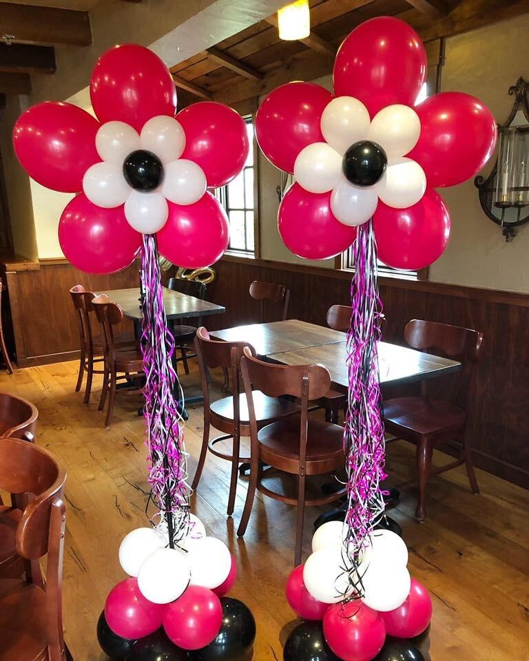 Flower Balloon Columns