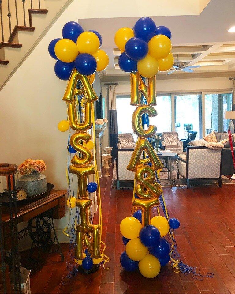 Letter Balloon Columns