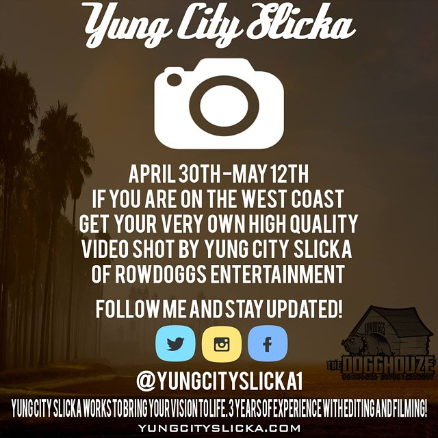 If you live in the southern #LosAngeles region and are in need of a professional videographer at an affordable rate contact @yungcityslicka1  #rowdoggs #yungcityslicka #chicago #likes4likes #likesforlikes #lfl #l4l #likeforlike #like4like #commentsforcomm