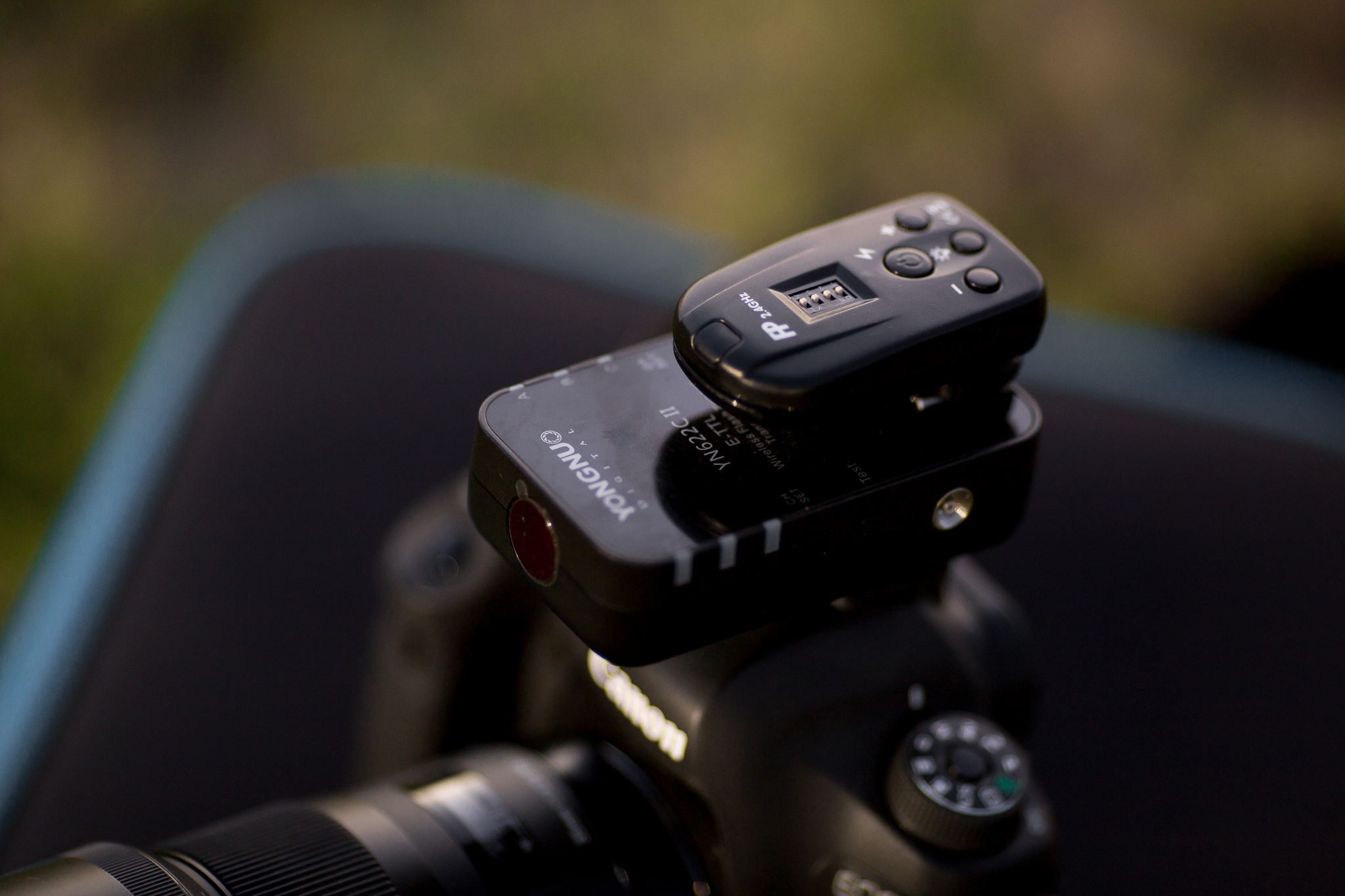 I add the Flashpoint remote on top of the Yongnuo trigger for convenience.