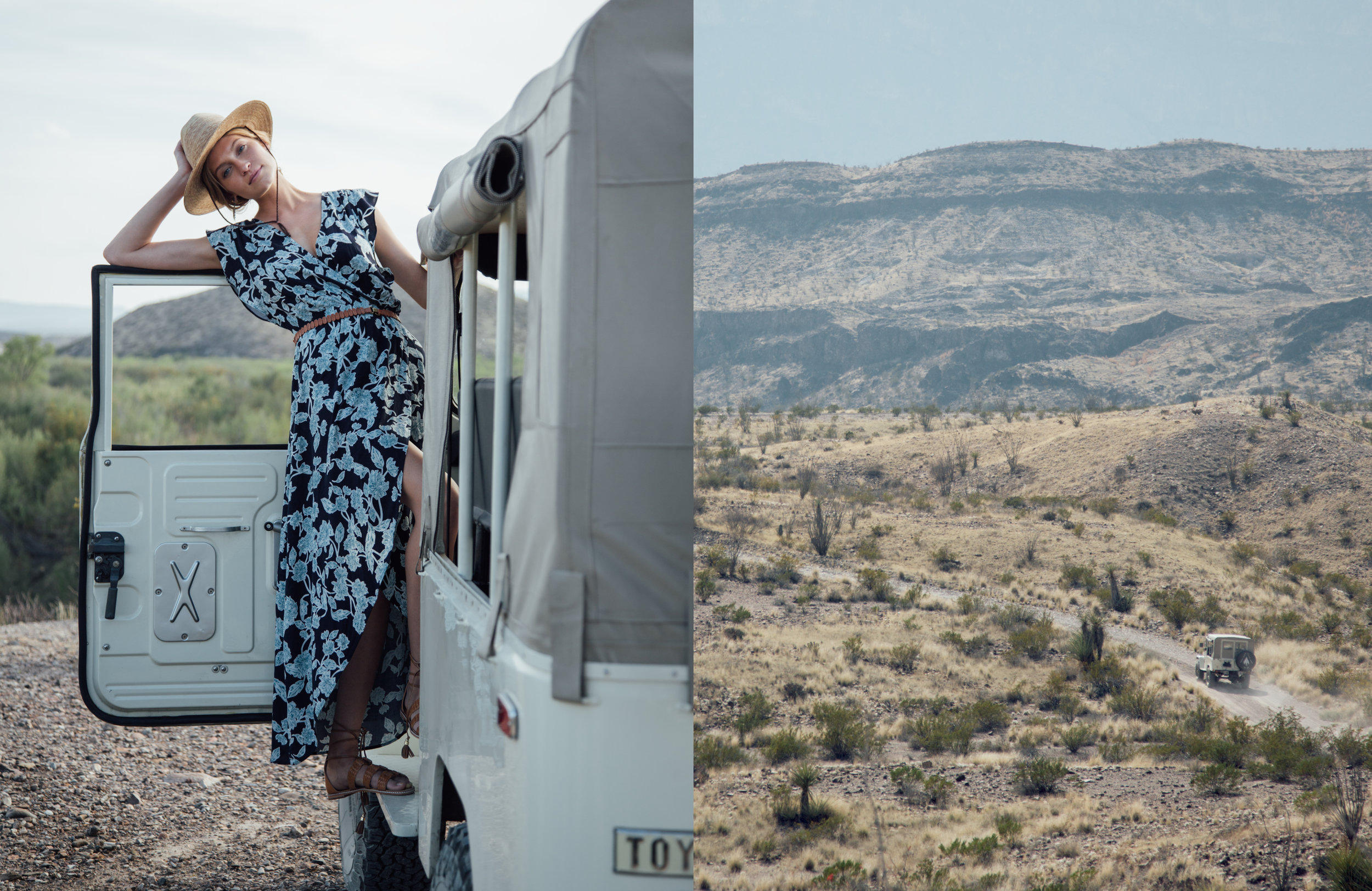 Photo: Sinuhe Xavier; Hair/MUA: Lillian Fogel; Shot on location in Big Bend National Park, TX