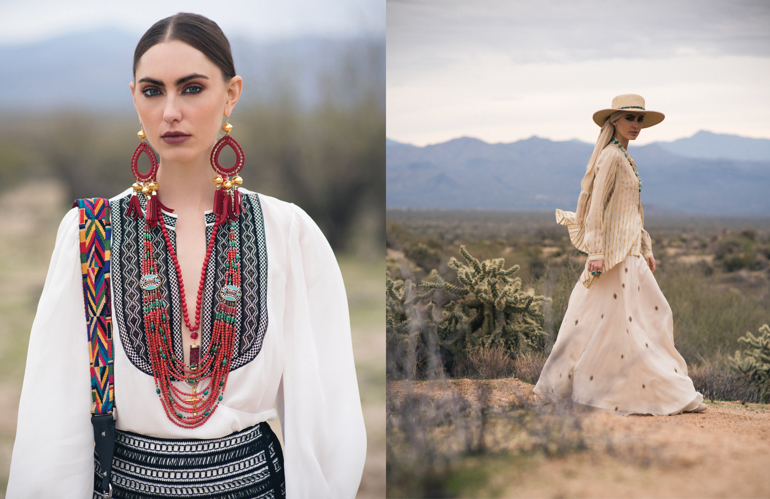 Photo: Christine Johnon; Wardrobe Stylist: Margaret Merritt; Hair/MUA: Diane Aiello; Shot on location in the Sonoran Desert Preserve, AZ