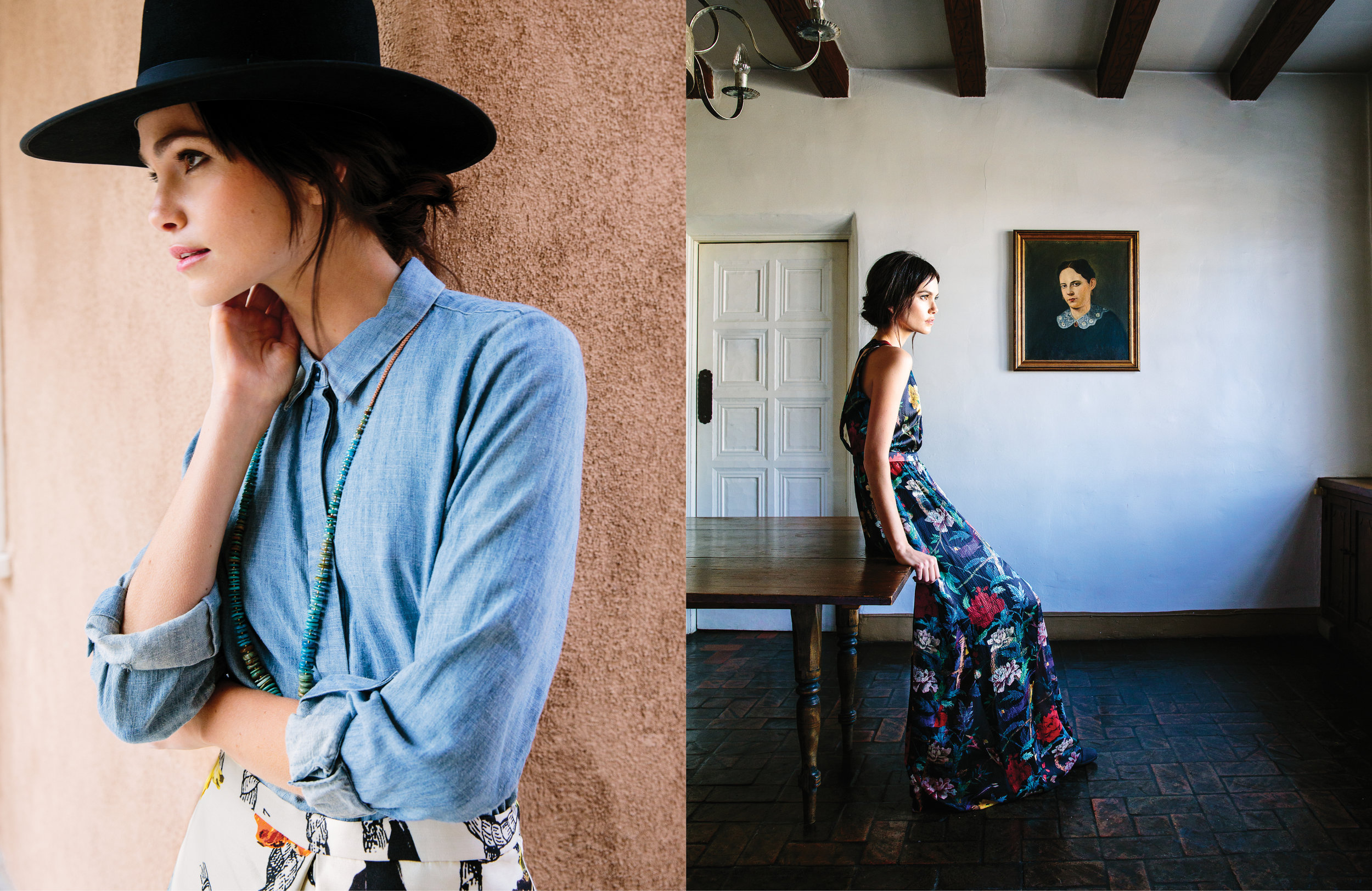 Photo: Wynn Myers; Wardrobe Stylist: Sara Oswalt; Hair/MUA: Kata Baron; Shot on location at Los Poblanos, Albuquerque, NM