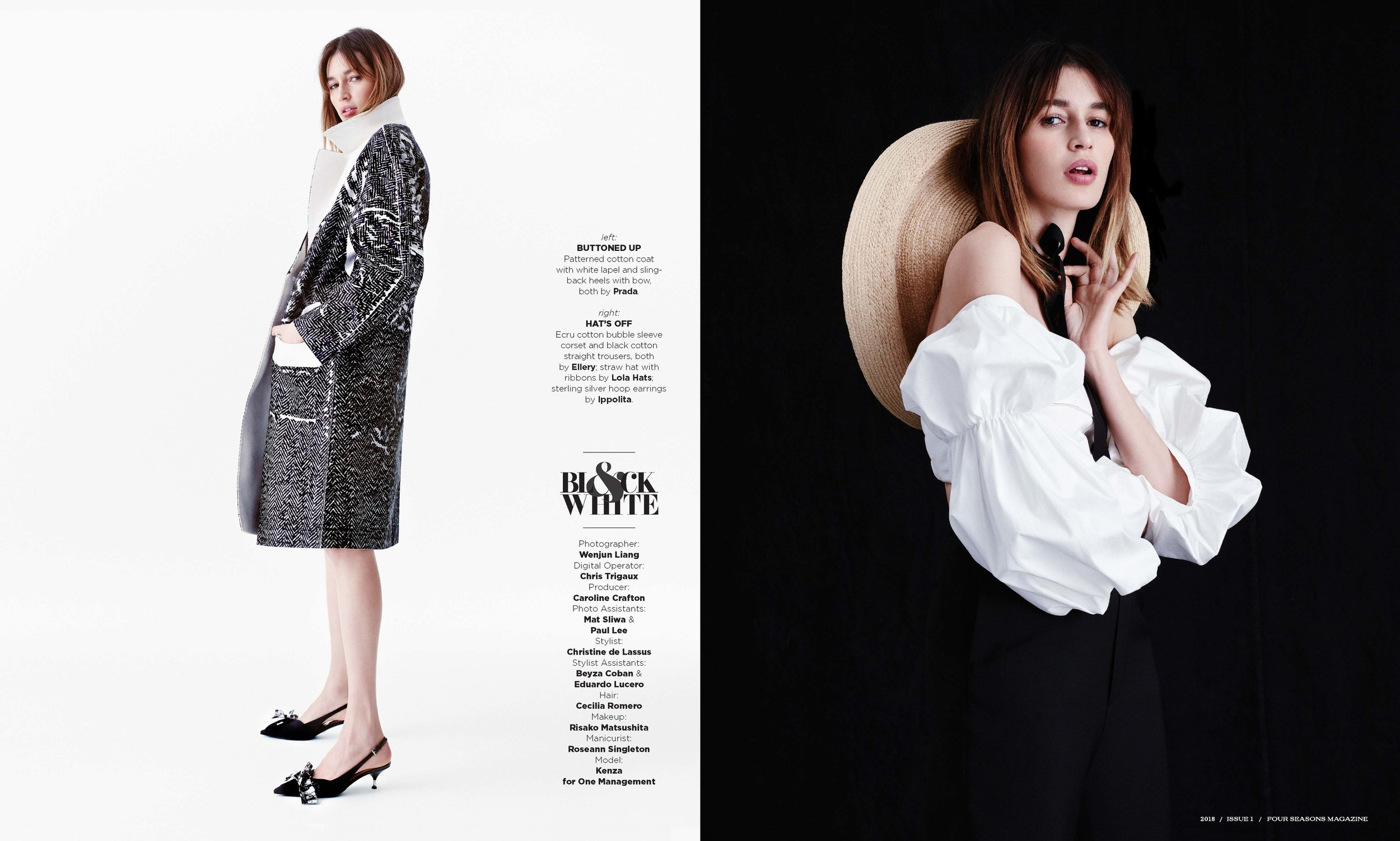 Photo, Wenjun Liang; Styling, Christine de Lassus; Hair, Cecilia Romero; MUA, Risako Matsushita; Manicurist, Roseann Singleton