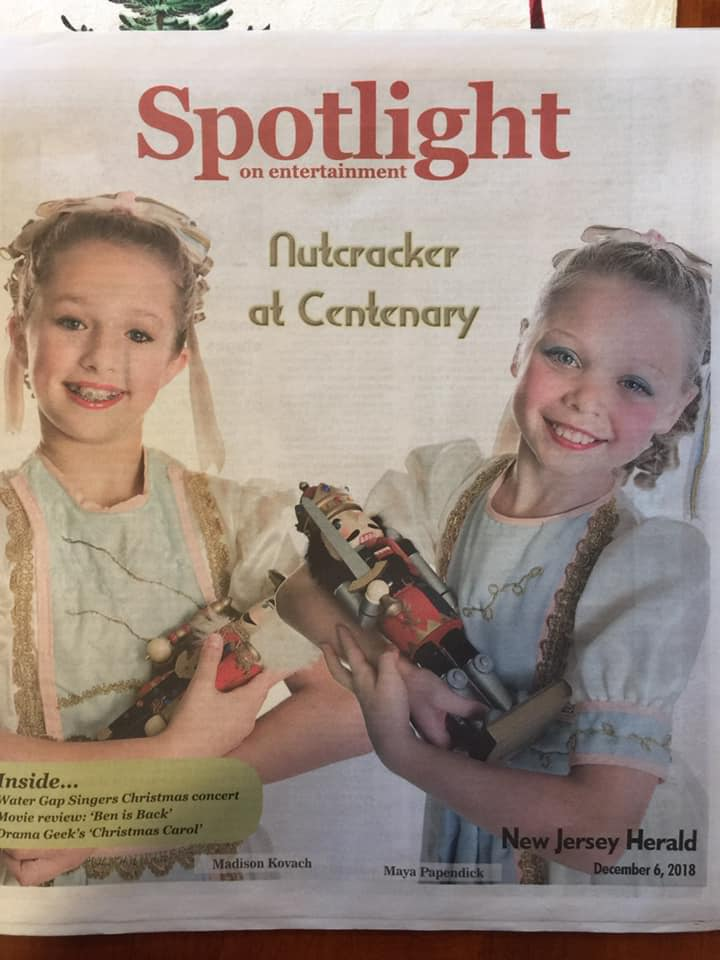 New Jersey HERALD - Our beautiful Claras, Madison Kovach and Maya Papendick, are featured in this article written by the Herald.