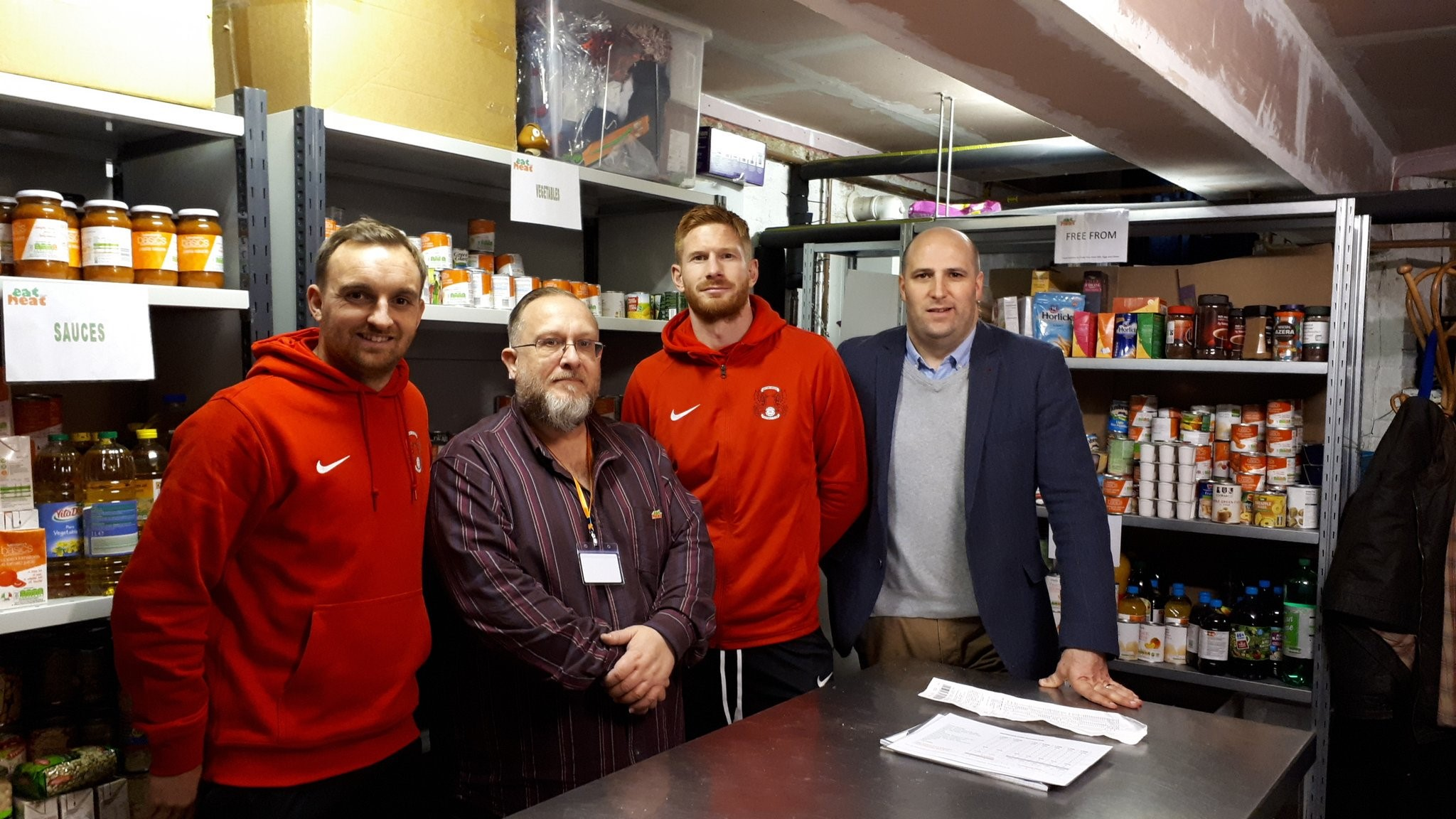 Leyton Orient supports local food bank, Eat or Heat. -