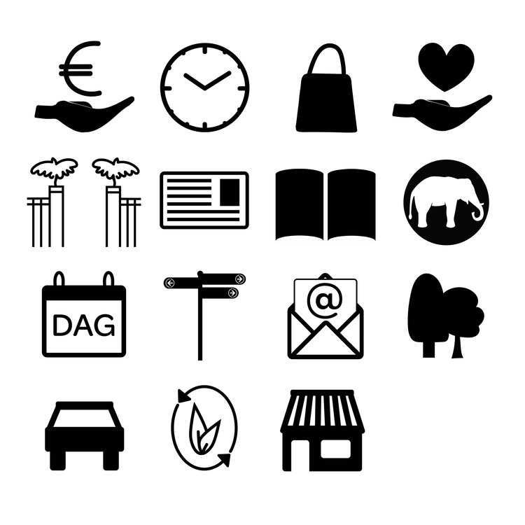 Icons for Artis for customer satisfaction research