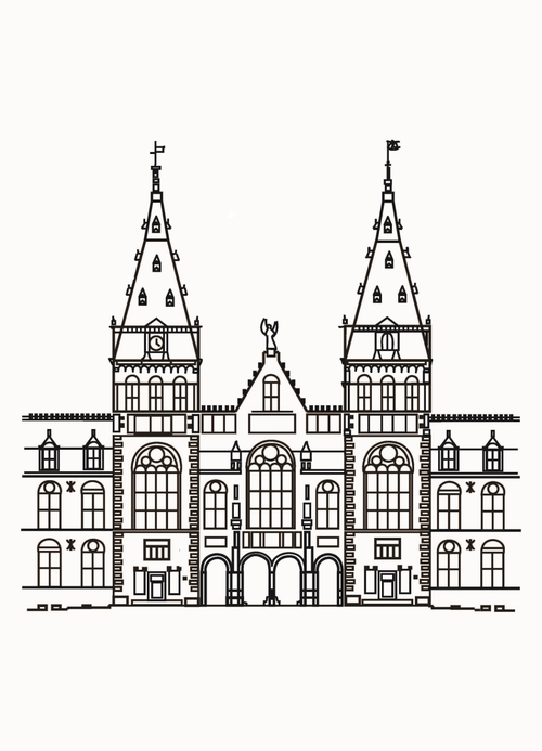 Illustration of rijksmuseum Amsterdam