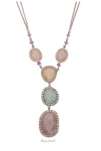 sheryl-jones-colored-gemstone-pendant-necklase