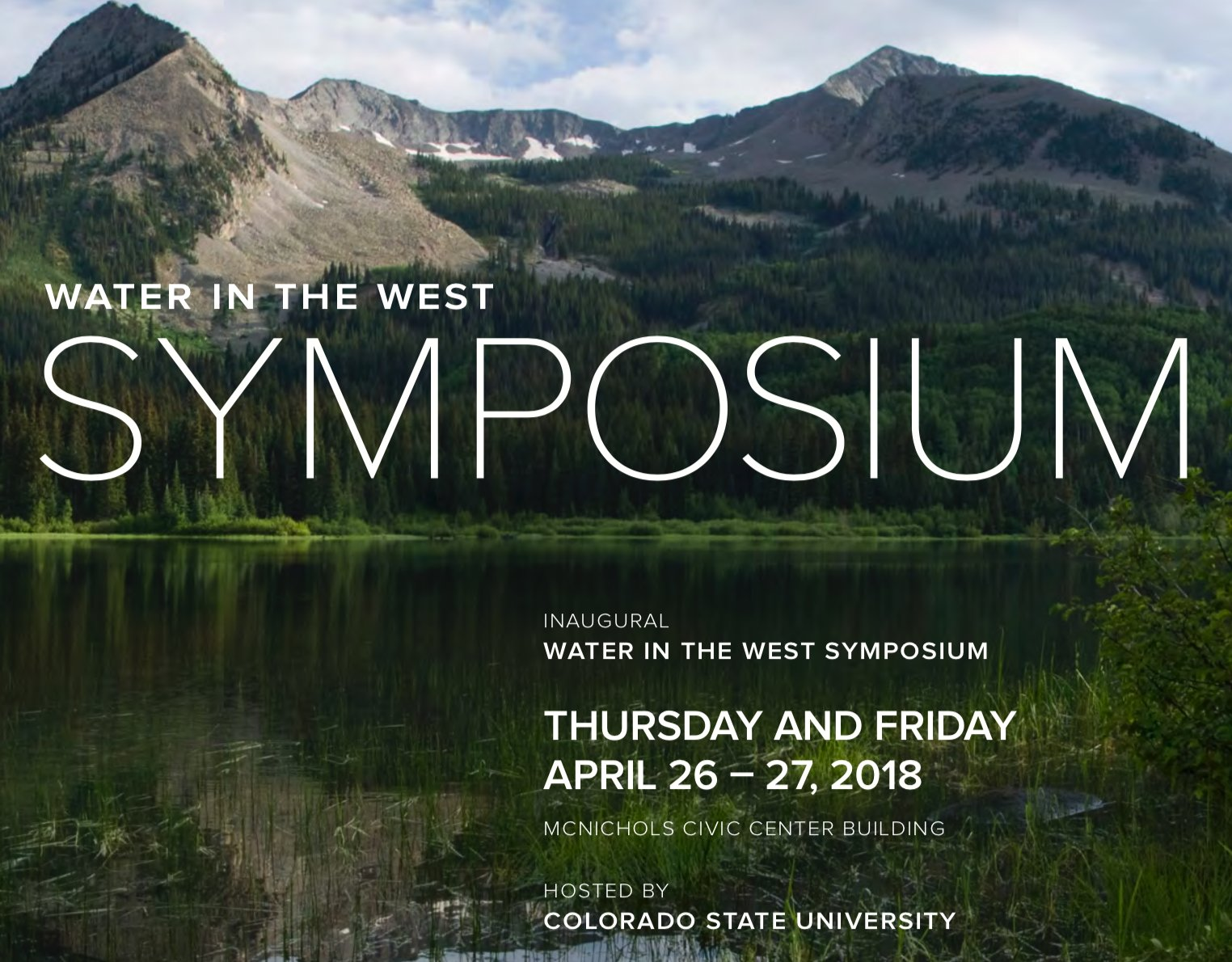 Inaugural Water in the West Symposium Presenter -