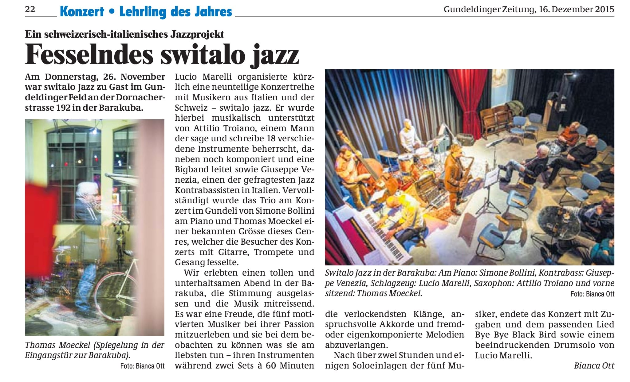 Gundeldinger Zeitung, Dez 2015