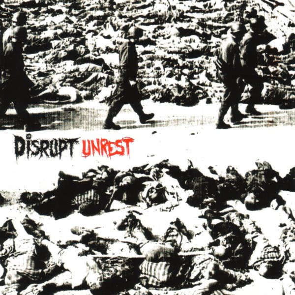 Massachusetts hardcore inspired grind? Not really any neat box that you can stick these guys into. More on the punk/grind spectrum than metal, but categories aside, Disrupt's only album Unrest is a catchy, angry, violent tirade against corporate America, vivisection, organized religion and that's just the beginning. Enjoy a crusty magnifying glass on America. Unrest.