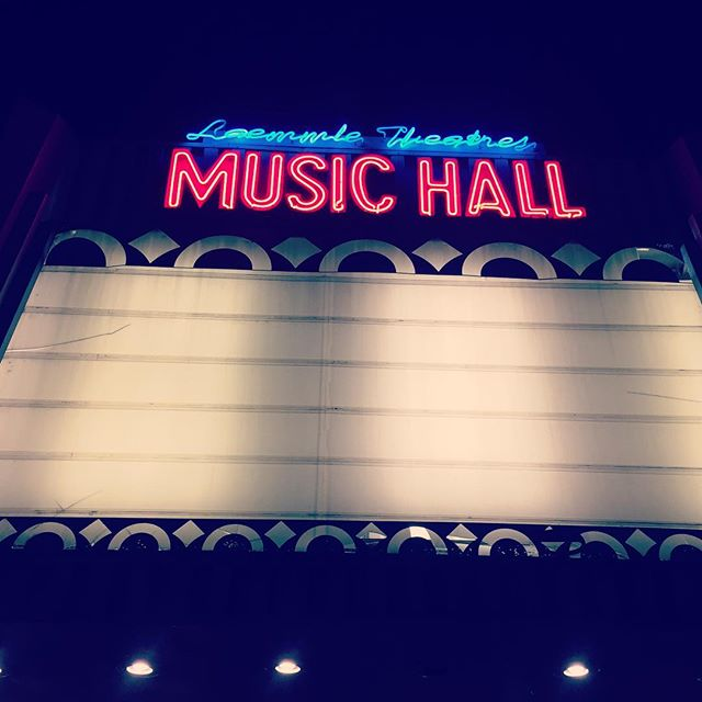 It's pouring rain and the power's out, so I committed my Most L.A. series of acts ever. 1. I put on yoga pants. 2. I drove my car. 3. I saw a film. My mum will be so proud 🤗 @sunflower1065 #ilovela #laemmlemusichall #isthedraughtoveryet